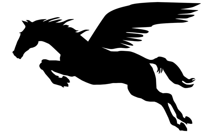 700x467 Pegasus Silhouette Wall Mural We Live To Change