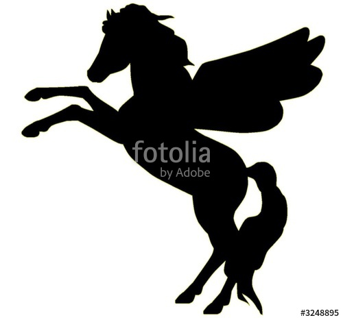 500x467 Rearing Pegasus Silhouette Stock Photo And Royalty Free Images