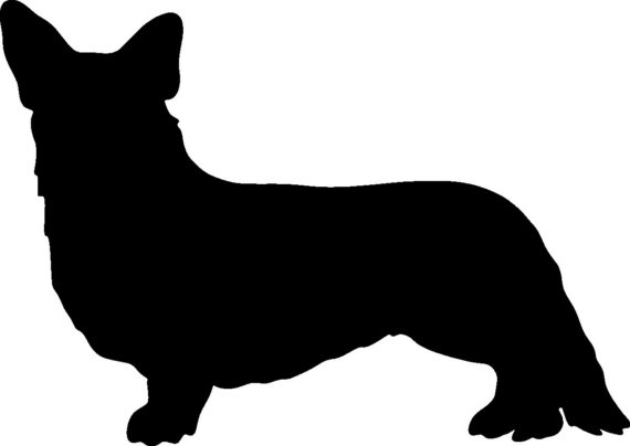 570x404 6 Cardigan Welsh Corgi Vinyl Dog Silhouette Decal By Initialyou