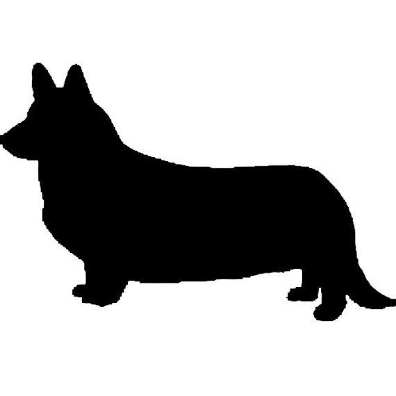 570x570 Pembroke Or Cardigan Welsh Corgi Dog Profile Silhouette Window