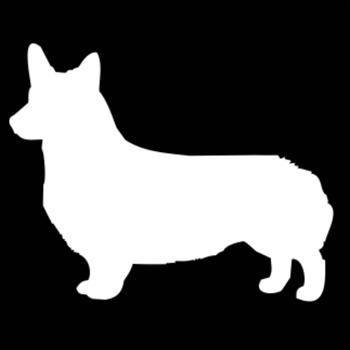 350x350 Buy One Of Our Pembroke Welsh Corgi Silhouette Embroidery Gifts