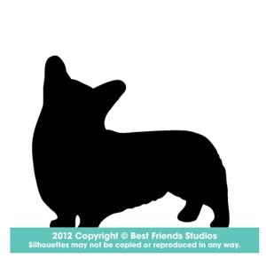 300x300 Welsh Corgi (Pembroke) Dog Silhouette Gifts, Stationery, Address
