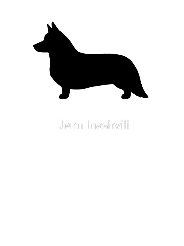 600x800 Cardigan Welsh Corgi Silhouette Stickers By Jenn Inashvili