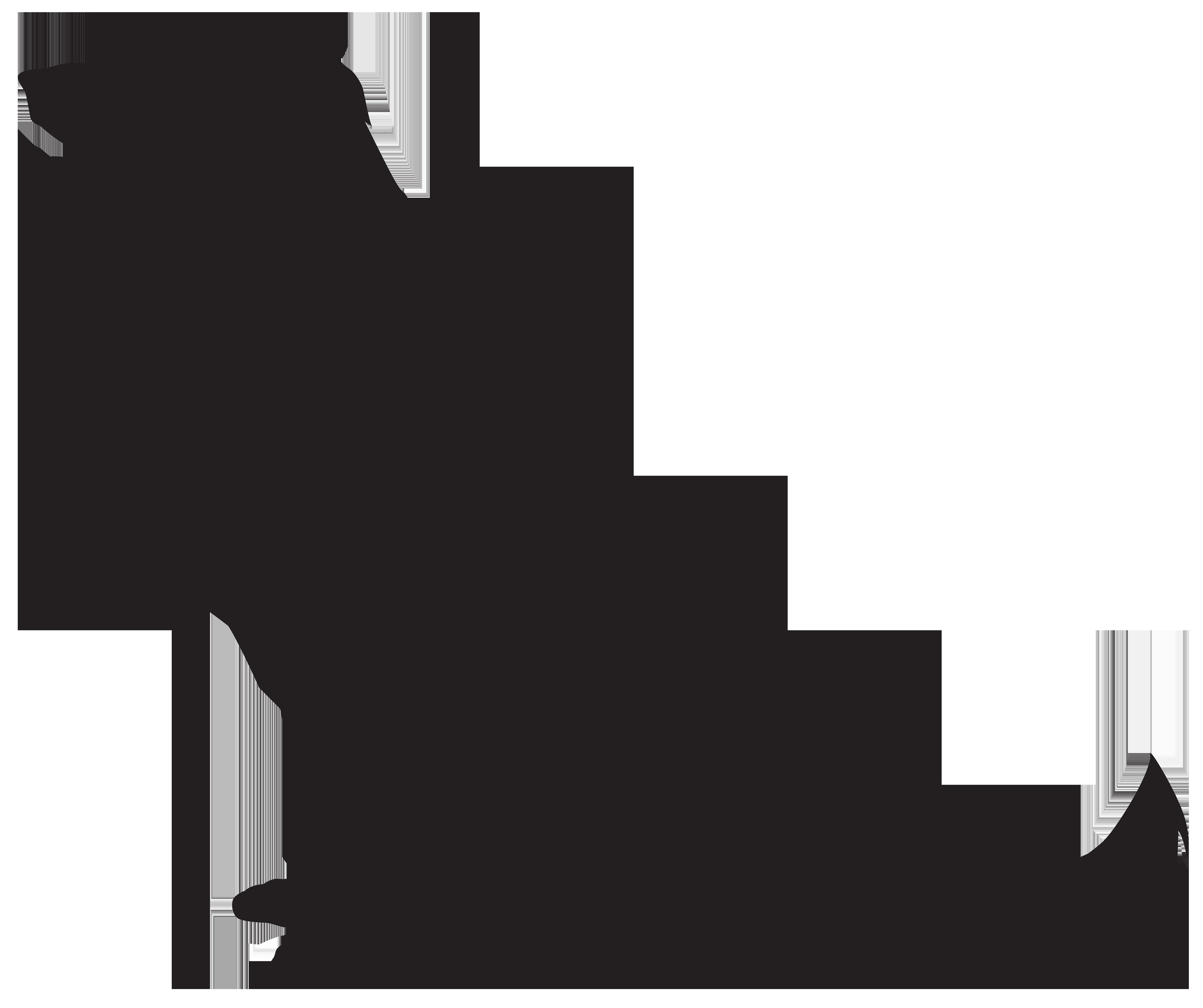 8000x6706 Pug clipart silhouette