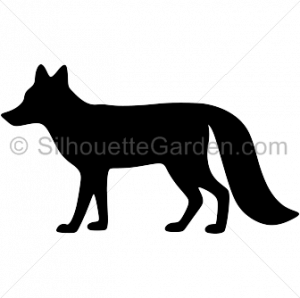 300x298 Shining Fox Silhouette Clip Art Clipart Pencil And In Color