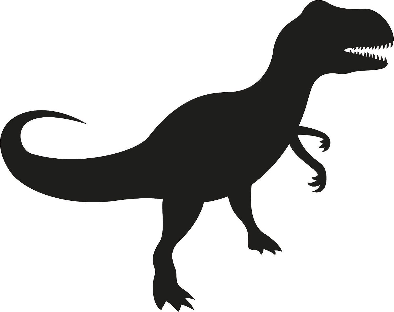 1500x1186 Silhouette Clipart T Rex Pencil And In Color Brilliant Simple
