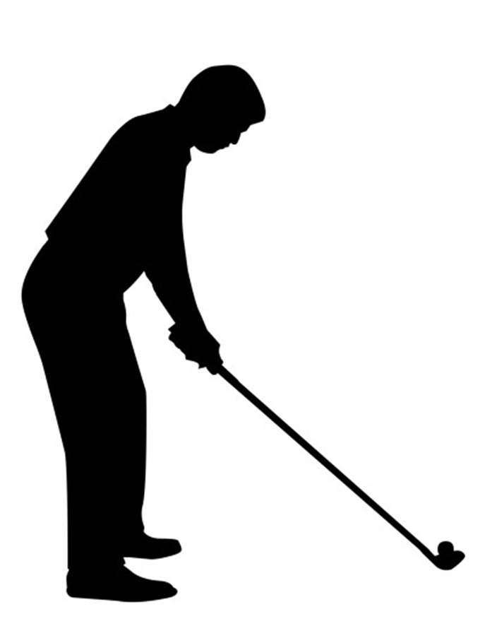680x886 Silhouette Clipart Golf Pencil And In Color Silhouette