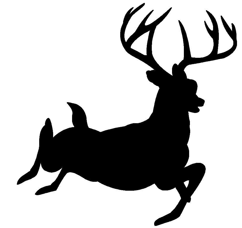 920x868 Wildlife Clipart Deer Silhouette Pencil And In Color