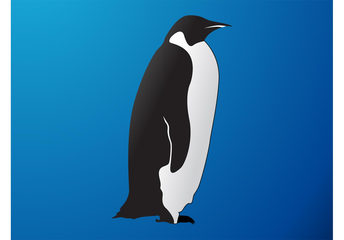 1400x980 Penguin Silhouette Free Vector Art