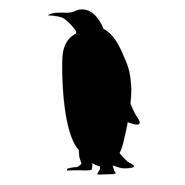640x640 Penguin Animal Silhouette Free Illustrations