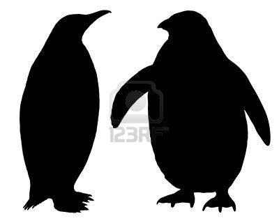 400x320 Penguin Silhouette Stock Photo Craft Ideas