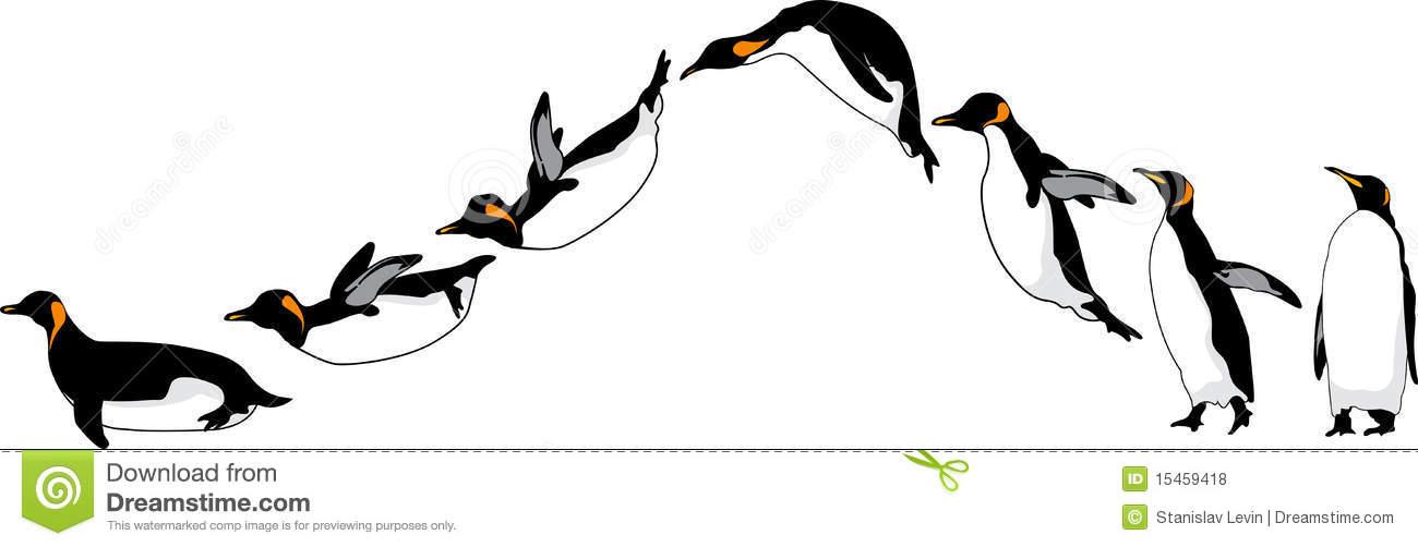 1300x502 Sliding Penguins Royalty Free Clipart Panda