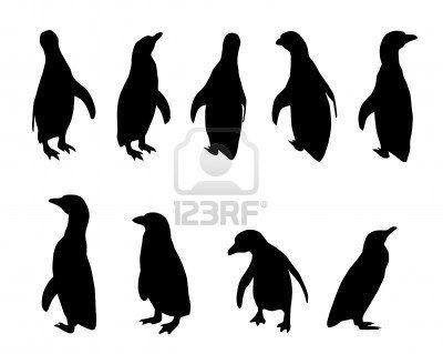 400x319 Penguin Silhouettes Tats Penguins, Silhouette