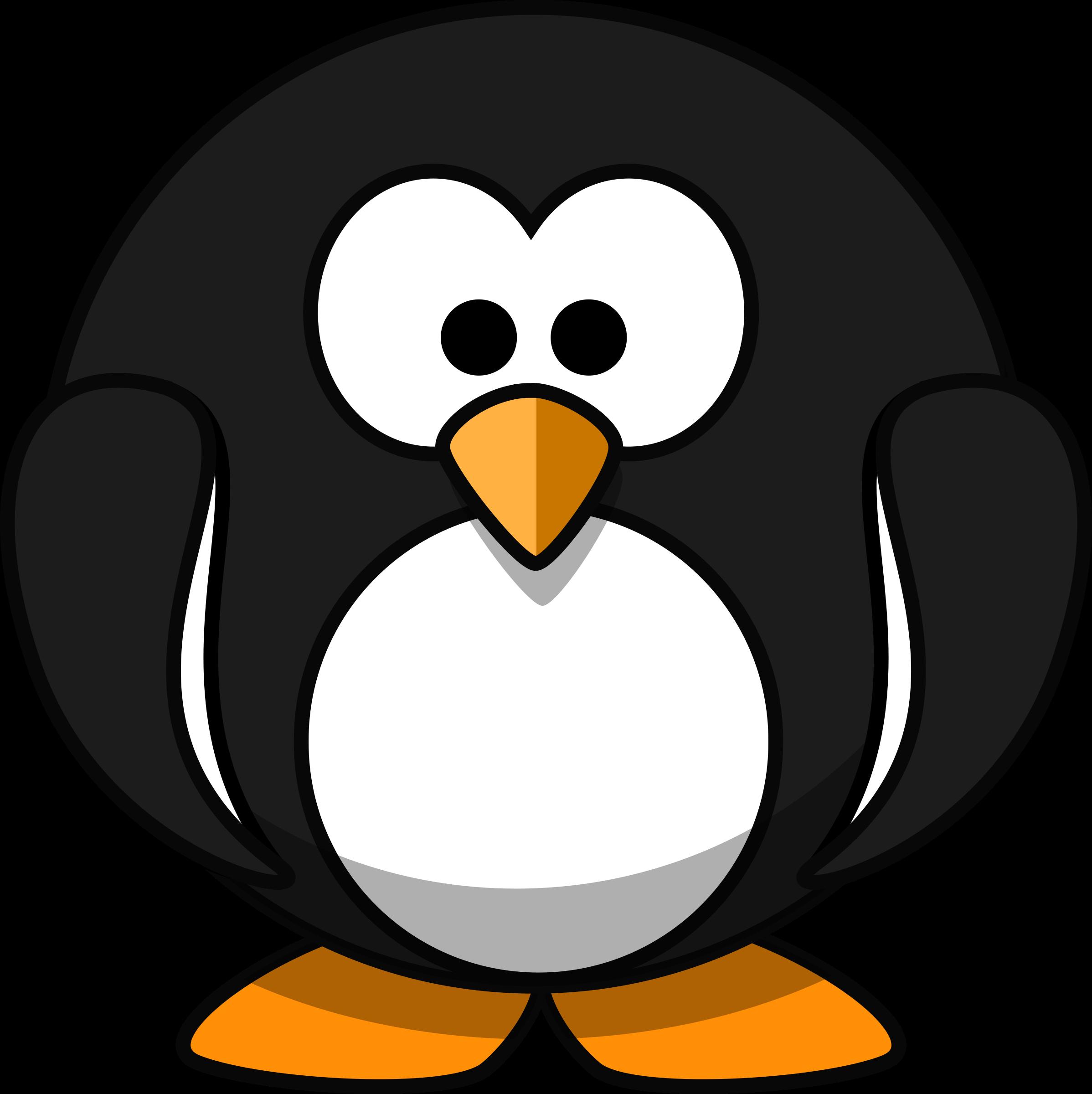 2396x2400 Round Penguin Vector Art Image