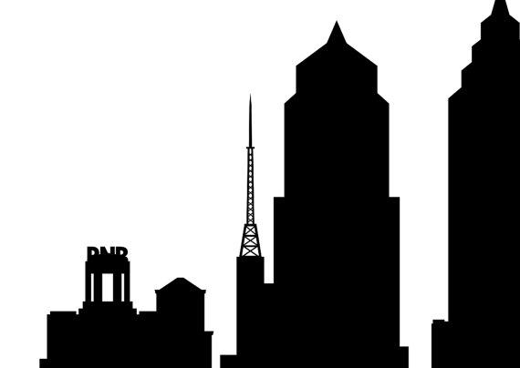 570x404 Philadelphia Skyline Silhouette Printable Skyline
