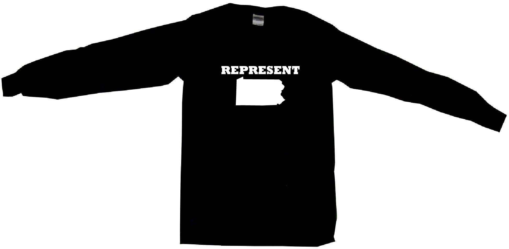 1947x953 Represent Pennsylvania Silhouette Mens Tee Shirt Pick Size Color