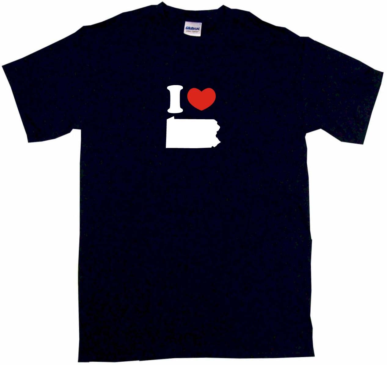 1267x1197 I Heart Love Pennsylvania Silhouette Mens Tee Shirt Pick Ebay
