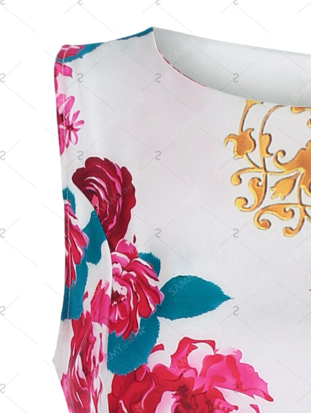 1200x1596 Floral Sleeveless Midi Dress