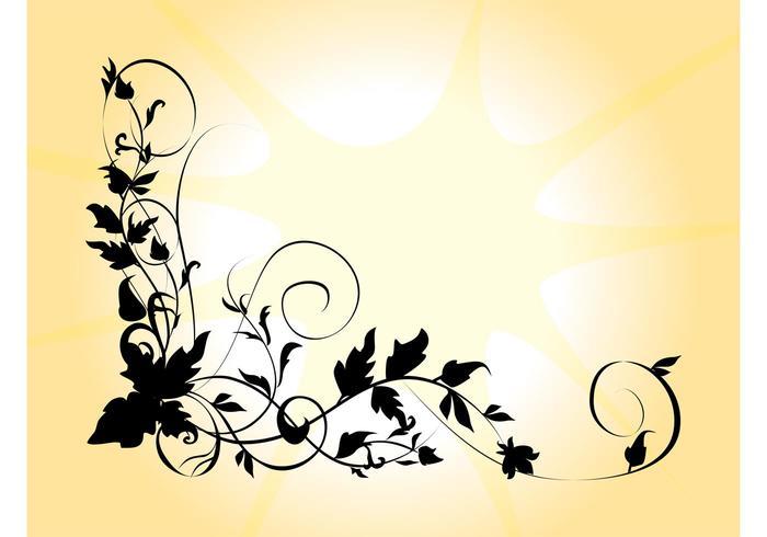 700x490 Flower Silhouette Free Vector Art