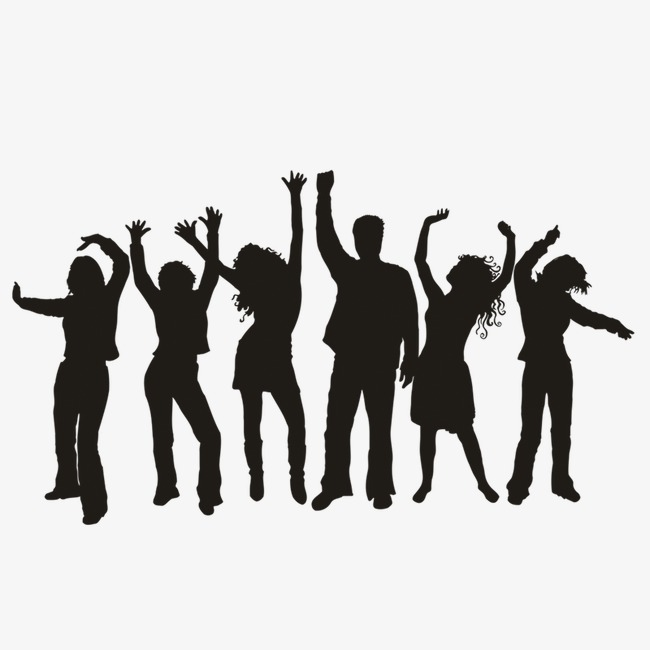 650x650 People Silhouette Background, Character, Sketch, Cheer PNG and PSD
