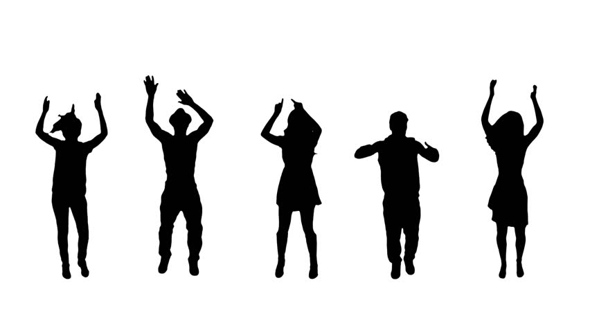 852x480 Silhouette of people Stock Video Footage