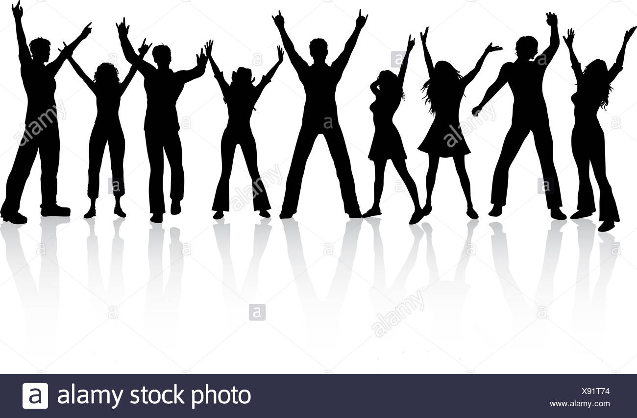 1300x854 Silhouettes Of People Dancing Stock Photo 280938760