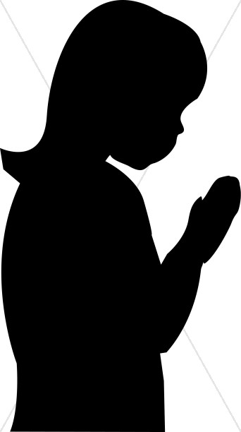 342x612 Girl Silhouette Praying Prayer Clipart