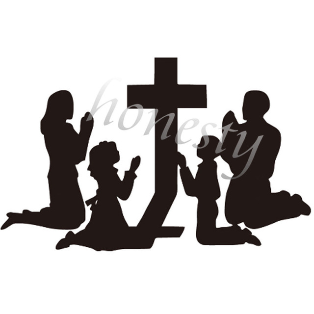 640x640 Family Praying Wall Home Door Window Glass Car Sticker Laptop Auto