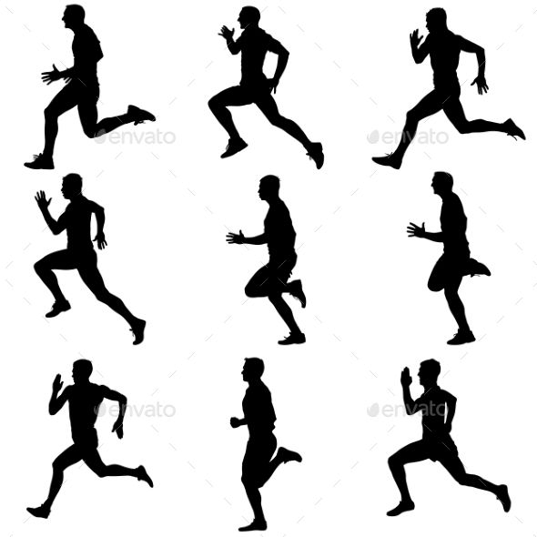 590x590 Running Silhouettes Silhouettes, Running And Wood Burning Patterns