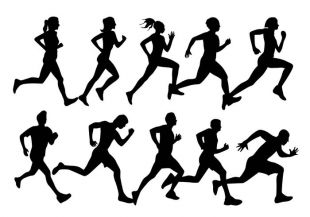 310x217 Running Man Dotted Silhouette Free Vectors Ui Download