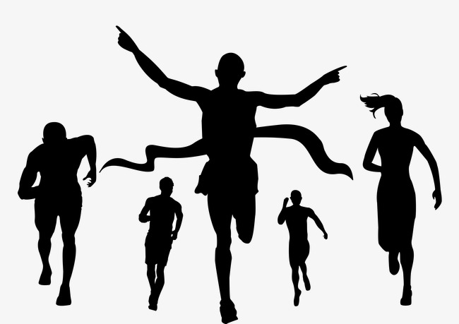 650x459 Sporty Silhouette Figures, Character, Running Man Png Image