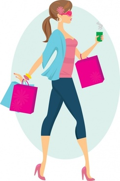 244x368 People Shopping Vector Free Vector Download (7,512 Free Vector