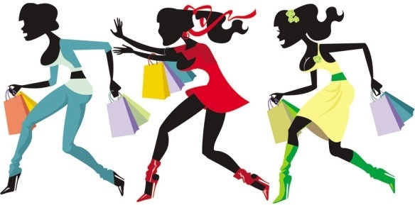 584x289 Shopping Girl Silhouette Free Vector Download (9,438 Free Vector