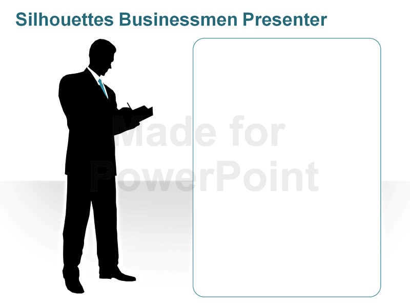 800x600 Silhouettes Business Men Presenter