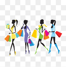 260x261 Simple Shopping Girl Gray Background Material, Simple, Shopping