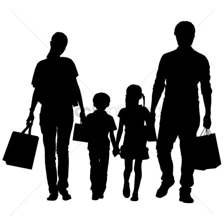 450x450 Free Family Shopping Stock Vectors Stockunlimited