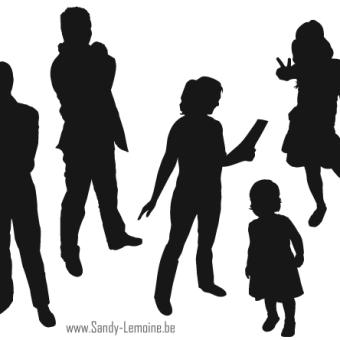 340x340 Free Illustrator Silhouette People 123freevectors