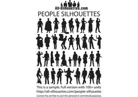 286x200 People Sitting Silhouette Free Vector Art