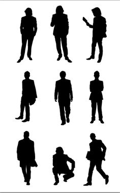 236x379 People Silhouette Templates Vector Vector Graphics Amp Vector