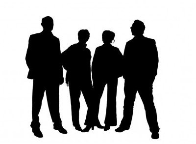 400x293 Vector Workplace Silhouette People Vector Art