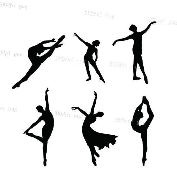 570x582 Ballet Silhouette Digital Clipart Vector Eps Png Files Clip Art