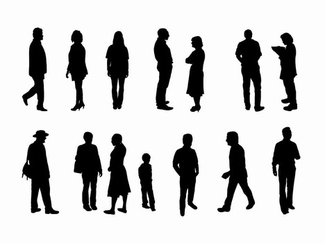 468x351 Full Length People Silhouette Clipart Panda