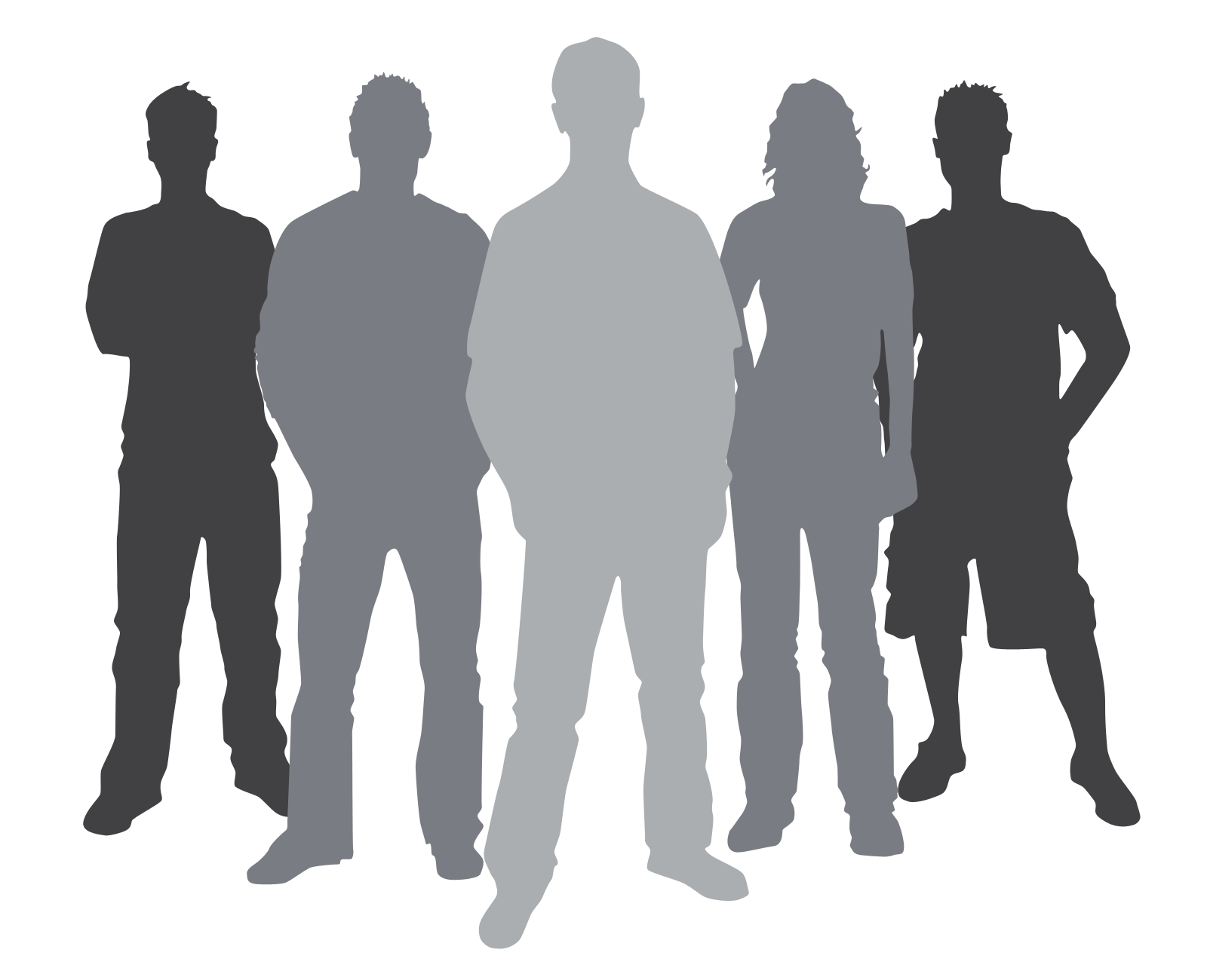 1600x1300 Group People Silhouette Clipart