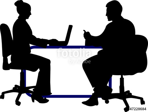 500x381 Business Background With Business People Silhouette Stock Image