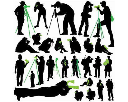 411x328 Free Silhouettes Photographer I Vector, Free Vectors