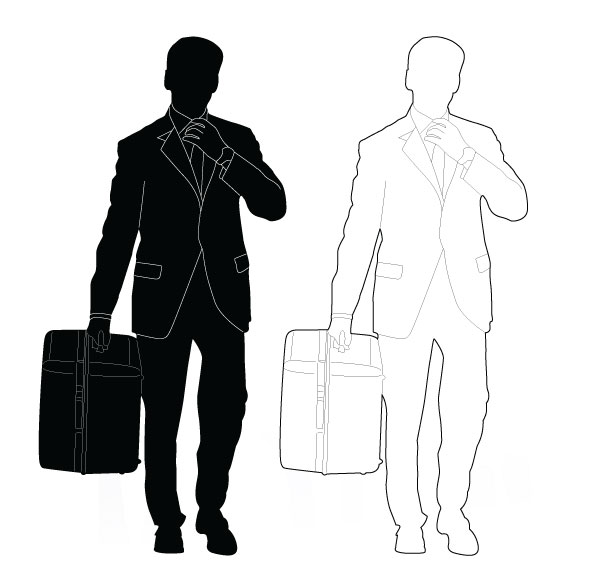 600x583 Best Of, Free Vector Business People Silhouette Packs