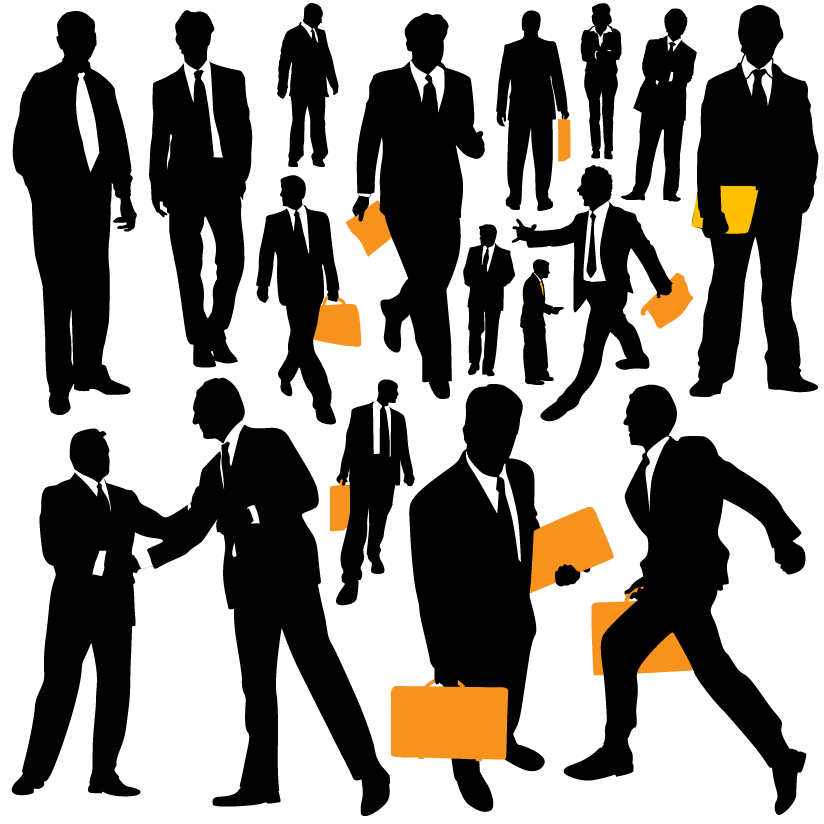 824x824 Business People Silhouette Vector Free Vector 4vector