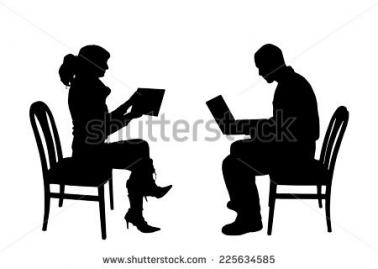 378x269 People Sitting In Chairs Silhouette Penaime