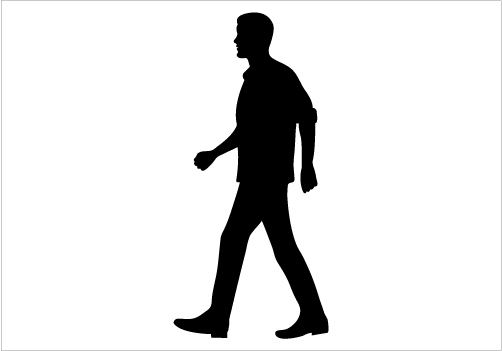 502x351 12 Man Walking Silhouette Vector Images
