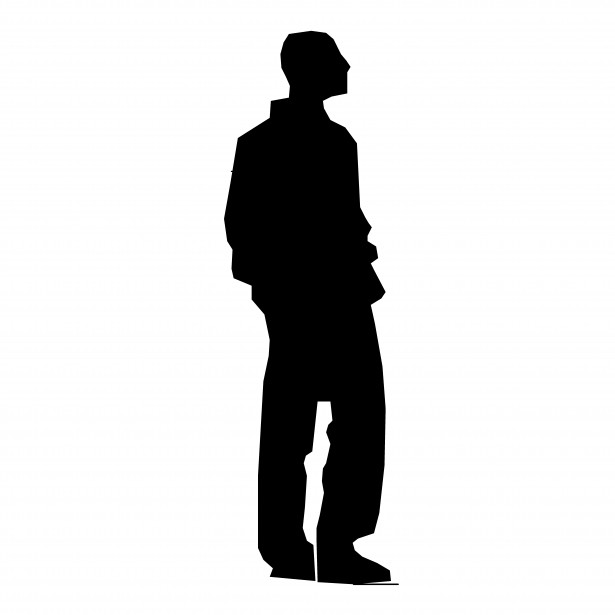 615x615 Silhouette Young Man Free Stock Photo